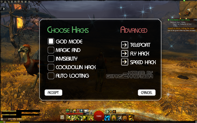 Random screenshot of a random GW2 hacking tool that I grabbed from Google Image search
